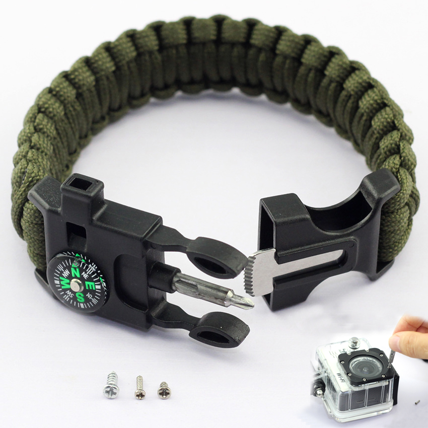 Braided Pulseras Camping Rescue Bracelets Parachute Outdoor Survival Paracord Camp Equipment Emergency Multi Tool Survival Rope
