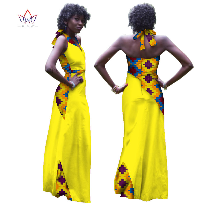 Dashiki African Dresses For Women Plus Size Ankara African Long Dresses For Women African Print Clothes Bazin Riche Dress WY2933