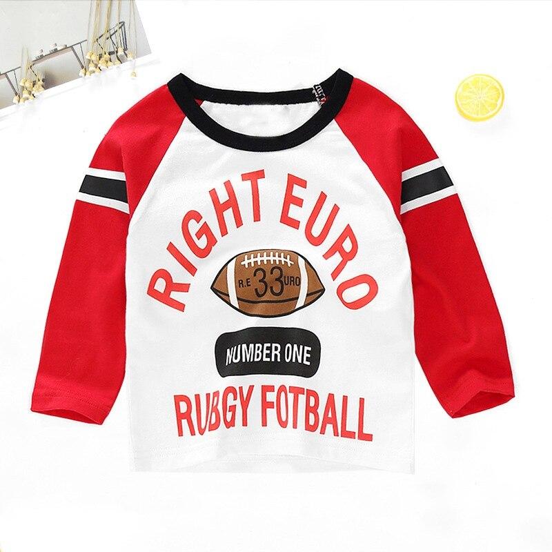 New Spring Boys Girls Cartoon Cotton T Shirts Children Tees Boy Girl Long Sleeve T Shirts Kids Tops Brand Baby Clothes 12M-8Y 23