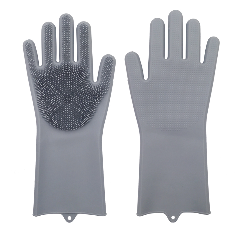 Dish Washing Cleaning Gloves With Cleaning Brush For Cleaning Dishes Kitchen And Housekeeping 4