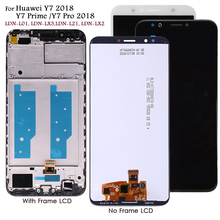 Pantalla LCD de reemplazo para Huawei Y7 2018 LDN L01/LX3, pantalla táctil de reemplazo para Y 7 Prime/Pro 2018 LDN L21/LX2