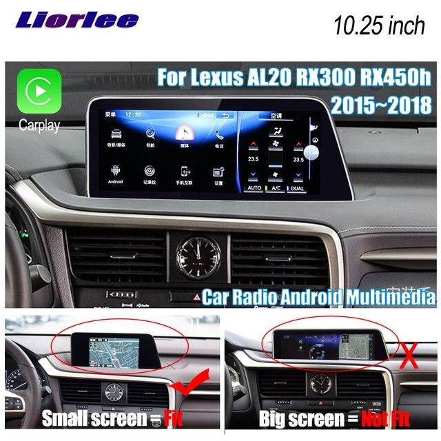 Автомобильный мультимедийный плеер Liorlee, для Lexus AL20 RX 300 RX 200t RX 450h 2015 2018, Android, Carplay, GPS, навигация, радио, стерео DVD