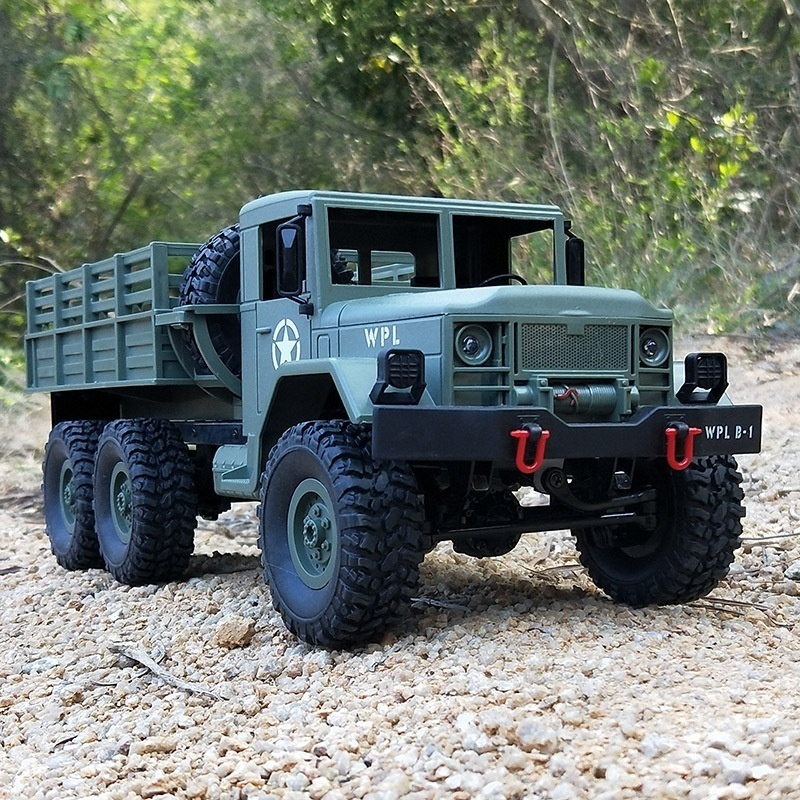 Remote Control Car Military Truck WPL DIY/Ready-to-Go B-16 1:16 4WD RC Wireless Kids Toy