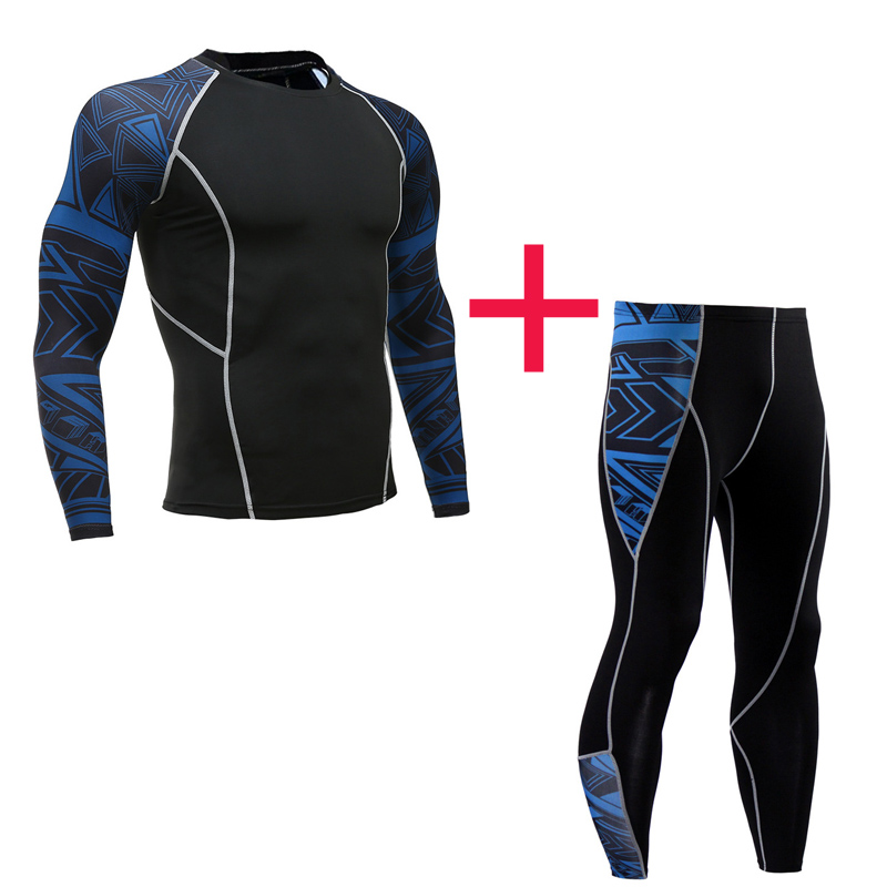 New Compression Tights Men's Suit Sportswear Men's Full Suit Tracksuit Elastic Quick-drying Fitness Jogging Training Base Layer