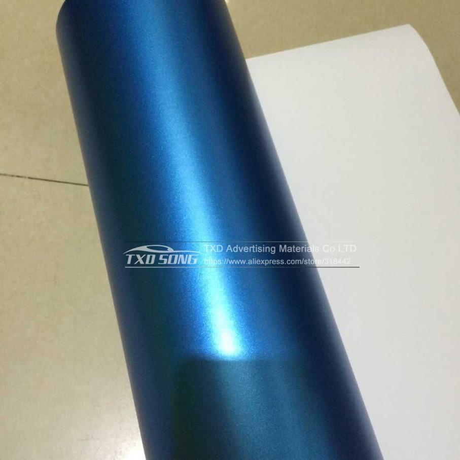 1,52*5 м/10 м/15 м/20 м в рулоне Премиум атласный металлический матовый хром Красный Синий Зеленый Виниловая пленка без пузырей
