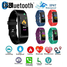ID115 PLUS Color Screen Smart Bracelet Sports Pedometer Watch Fitness Running Walking Tracker Heart Rate Band