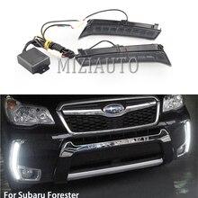 2 stücke LED DRL Für Subaru Forester 2013  2017 2018 Tagfahrlicht scheinwerfer Tageslicht Nebel lichter Auto Zubehör
