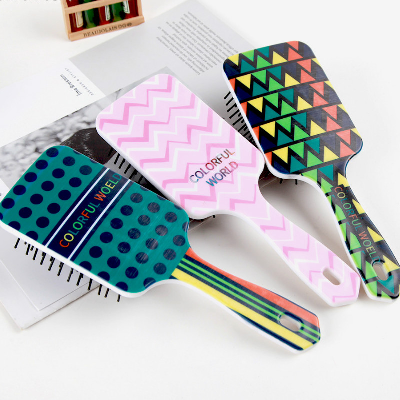 Scalp Massage Combs Bohemian Hair Brushes Portable Soft Anti-static Paddle Cushion Combs Shower Massage Combs Hair Styling Tools