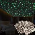 3D Пузырьковые светящиеся звезды и луна в горошек наклейки на стену для детской комнаты, спальни, украшения дома, светится в темноте DIY стикер...