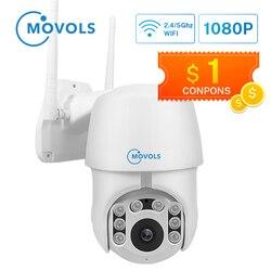 Movols 1080P PTZ Auto tracking kamera IP Wifi 4X Zoom cyfrowy kamery bezpieczeństwa IR wodoodporna prędkość Dome 2MP kamera monitorująca w Kamery nadzoru od Bezpieczeństwo i ochrona na