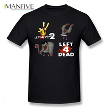 Left 4 Dead T Shirt Left 4 Dead 2 T-Shirt Short Sleeve Printed Tee Shirt Awesome 4xl Beach Male Cotton Tshirt dead rising 4 [pc jewel]