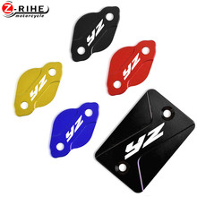 Motorcycle Front Rear Brake Fluid Reservoir Cap Cover For Yamaha YZ125/250 YZ450F 2003-2007 YZ250F 03-2006 YZ 125 250 450F 250F new motorcycle rear brake disc rotor for yamaha wr yz 125 250 f250 426 hrd gs 97 250 d20