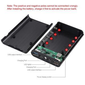 Image 4 - HAWEEL DIY зарядное устройство для аккумулятора, Корпус внешнего аккумулятора (не входит в комплект) с 2 USB выходами и дисплеем, поддержка QC 2,0 мА 4x
