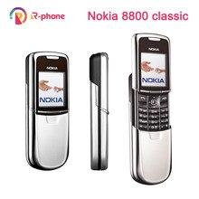 Oryginalny telefon komórkowy Nokia 8800 Classic odnowiony telefon komórkowy 2G odblokowany GSM rosyjski arabski angielski klawiatura
