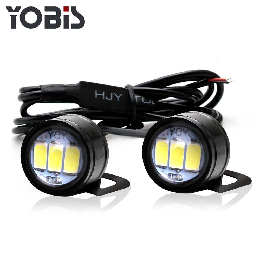 2PCS Motorcycle Hawk-Eye Lamp Ghost-Fire Lamp Modification Component Information Hawk Pedal LED Mirror Flash Hooligans Lamp