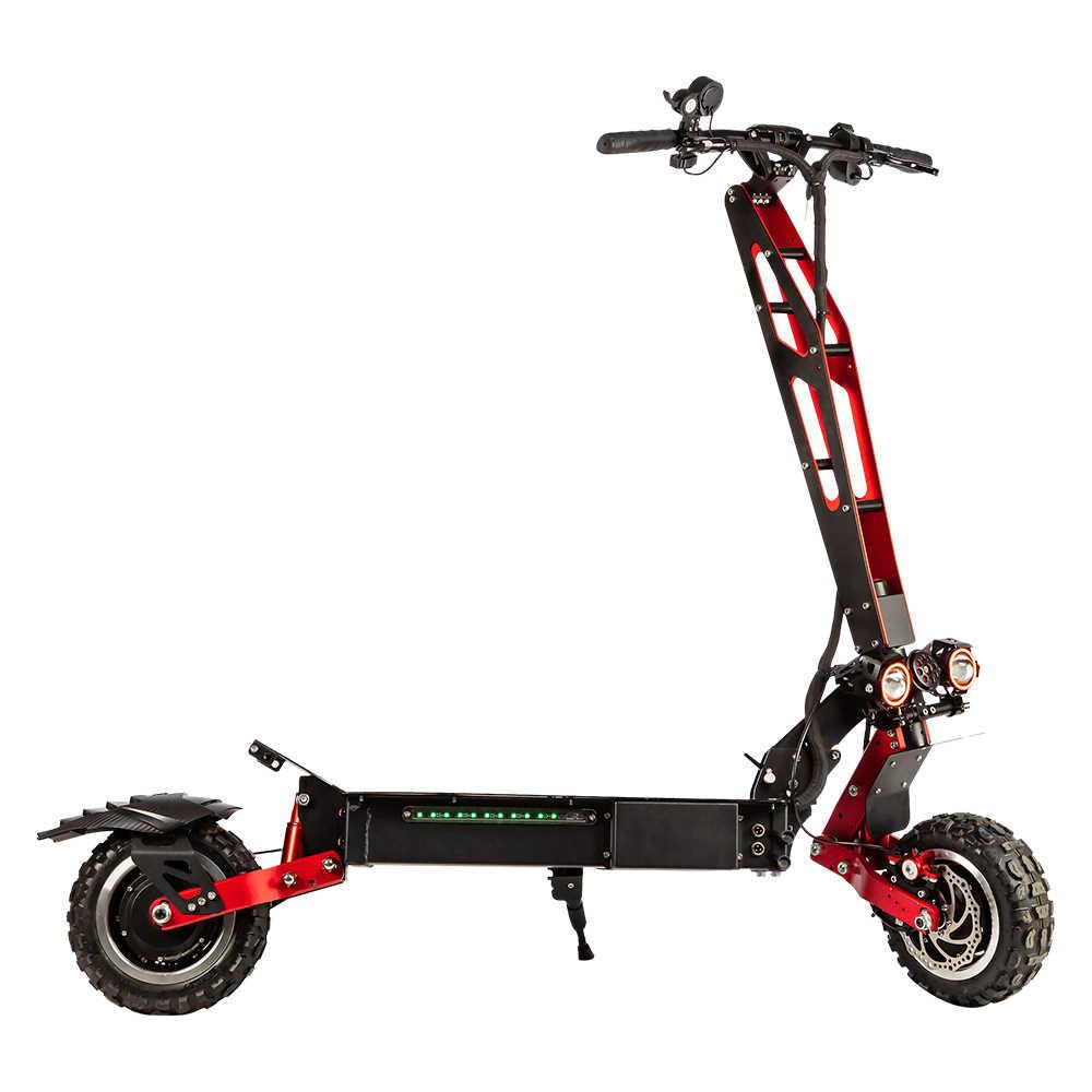 ハロー騎士ファッショナブルな 60 v 5600 ワット電動スクーターシート 11 インチオフロードデュアルモーター折りたたみ電動スクーター大人のための