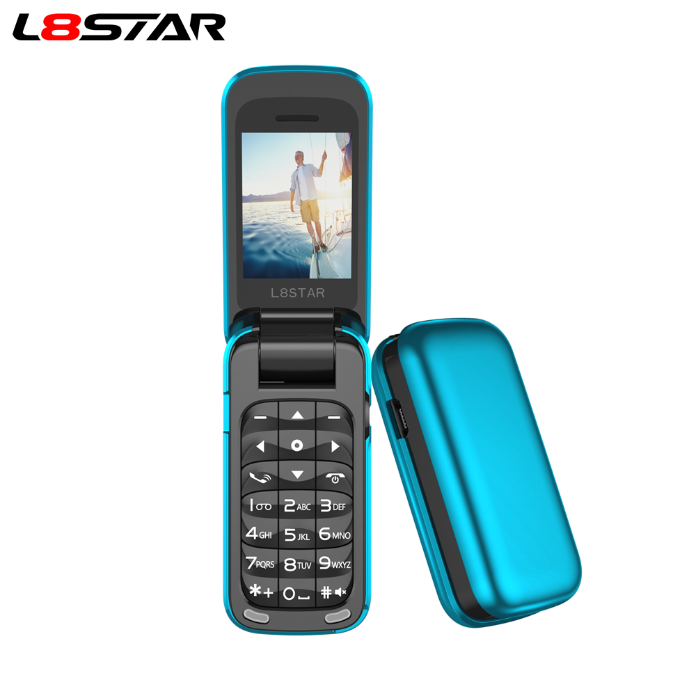 L8star BM60 Mini Flip Music Phone Bluetooth Dial Mobile phone FM Radio Magic Voice changer 3.5 Earphone Jack Mp3 Music player image