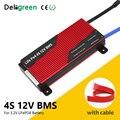 Deligreen BMS 4S 12V 80A 100A 120A 200A PCB BMS для аккумуляторной батареи 3 2 V LiFePO4 18650 литиевый аккумулятор