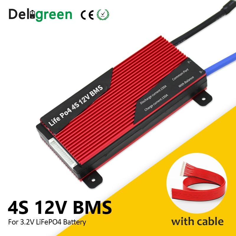 Deligreen Bms 4S 12V 80A 100A 120A 200A Pcb Bms Voor 3.2V LiFePO4 Batterij 18650 Lithium batterij