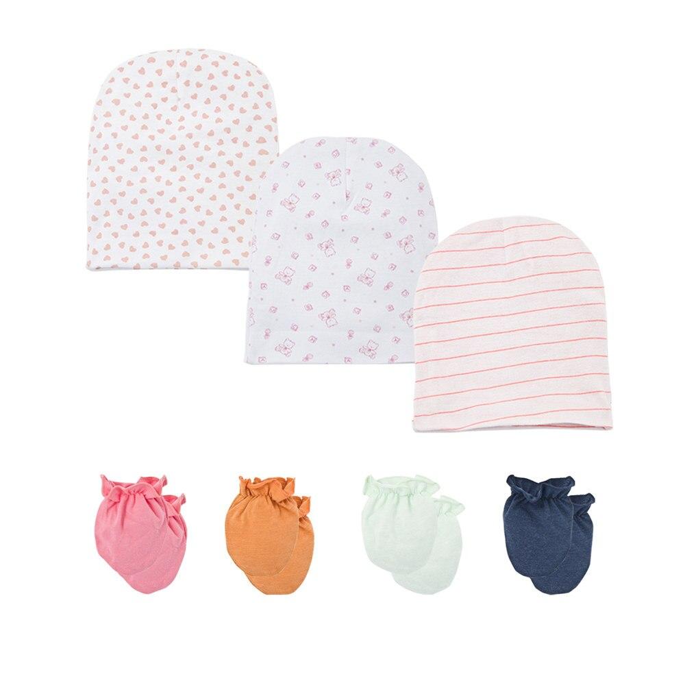 6pcs//set 100/% Cotton Mix Cartoon Newborn Baby//Infant Anti-scratch Mittens Gloves