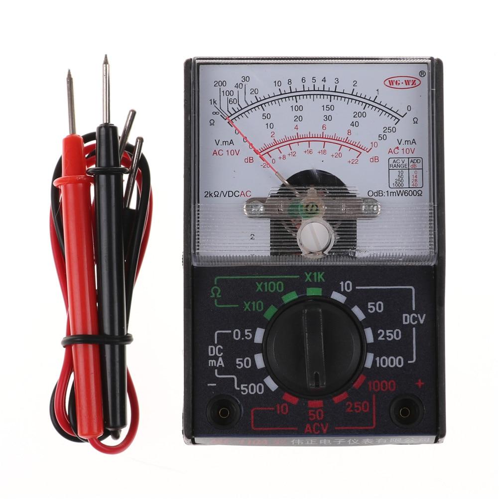 MF-110A Электрический аналоговый мультиметр, мультиметр, портативный вольтметр, амперметр, AC/DC, напряжение, ток, Ом, мультиметр, тестер
