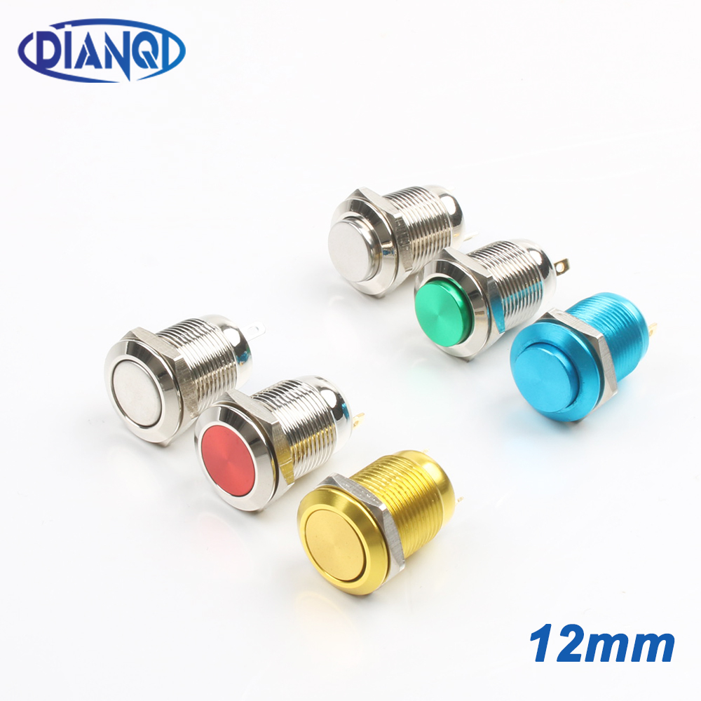 50pcs 16mm Metal Push Button Momentary ON OFF Horn Starter Switch 3A//250V AC SU