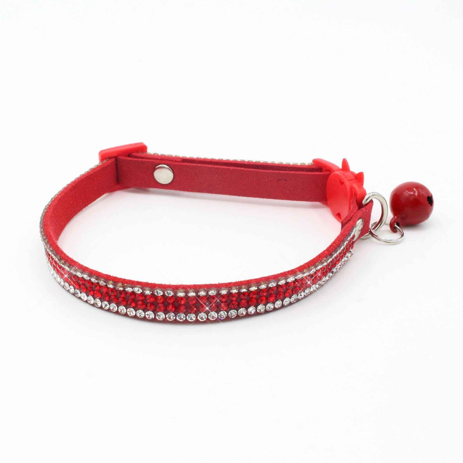 Kat Kraag Crystal Ketting Voor Kitty Met Bell Breakaway Nek Ring Veiligheid Katten Halsbanden Kat Accessoires Huisdier Producten