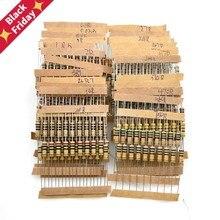300 pces resistor kit 1w 5% 30 valores x 10 pces resistência de filme de carbono 0.1-750 ohm conjunto 0.1r-750r