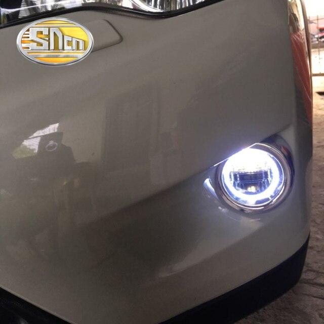 SNCN 3-en-1 fonctions Auto LED Angel Eyes diurne projecteur de voiture antibrouillard pour Nissan Frontier 1998 - 2014 2015