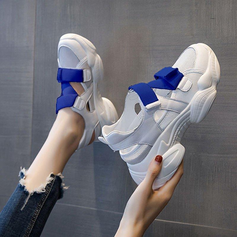 Женская открытая обувь YRRFUOT, брендовые уличные сандалии, светильник, лоферы, новинка 2020