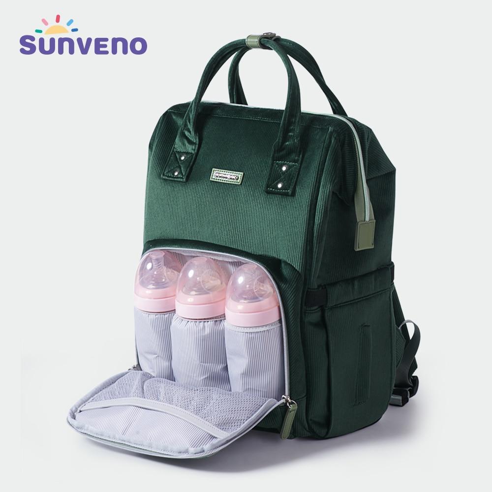 Sunveno модный рюкзак для женщин сумка детских подгузников большая