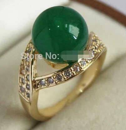 +++ 904 12 มม.แหวนหยกสีเขียว AAA เกรด 6-9