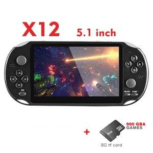Image 2 - RETROMAX consola portátil de videojuegos X12 de 5,1 pulgadas, compatibilidad con salida de TV, Retro