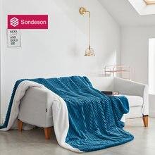 Sondeson 2020 современное теплое голубое одеяло волшебное флисовое