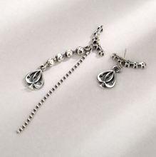 S925 sterling silver asymmetric fashion love earrings retro temperament ear rings national style Gift
