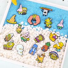 Cartoon pineapple house brooch funny cute yellow sponge pin clothing accessories backpack decorative micro chapter