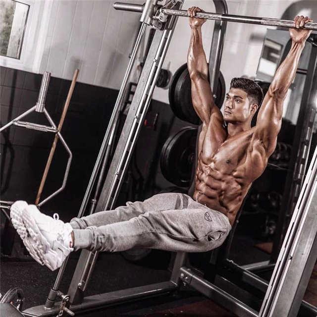 2019 Fashion Men Gyms Pants Joggers Fitness Casual Long Pants Men Workout Skinny Sweatpants Jogger Tracksuit Cotton Trousers 2
