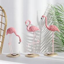 Figurine de flamant rose de Style nordique, décoration féerique de jardin, salon, bureau, fête de mariage, accessoires de décoration pour la maison