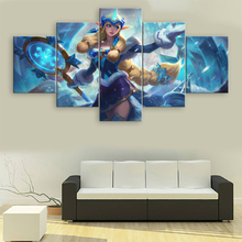 5 Pieces League of Legends Canvas Painting Decorative Pictures Modern Wall Art Soraka Printed Game Poster Artwork Cuadros