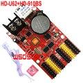 HD-U62 + HD-910BS датчик яркости 2 * HUB08 4 * HUB12 1536*32 768*64 USB светодиодный карта управления один и двойной цвет P10 светодиодный