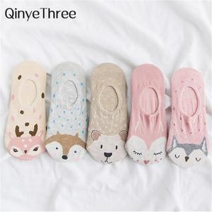 5Pairs/Lot Cartoon Unicorn Cat Fox Socks Cute Animal Women Socks Summer Funny Short Ankle Socks Ladies Cotton Sock Dropship