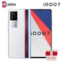 Original iqoo 7 5g smartphone snapdragon 888 120w traço carregamento 6.62 Polegada amoled 120hz taxa de atualização android 11 nfc celular