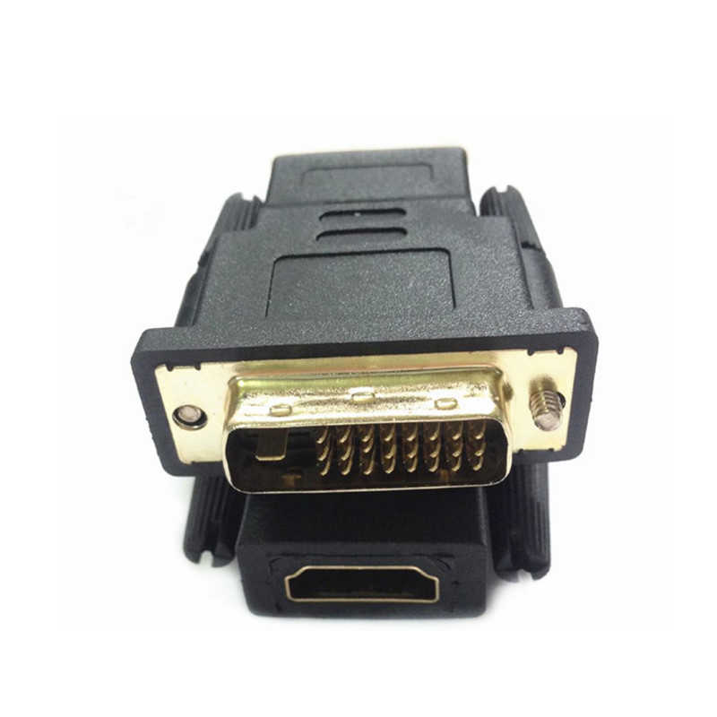 HDMI Male Female ke DVI D 24 + 1 Pin Male Adaptor Converter HDMI DVI Kabel Switch untuk PC untuk HDTV PS3 Proyektor LCD TV Box TV