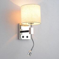 I zakontraktowane sweet sypialni szef łóżku kinkiet led pokoje hotelowe z ścienny ze stali nierdzewnej przełącznik lampy