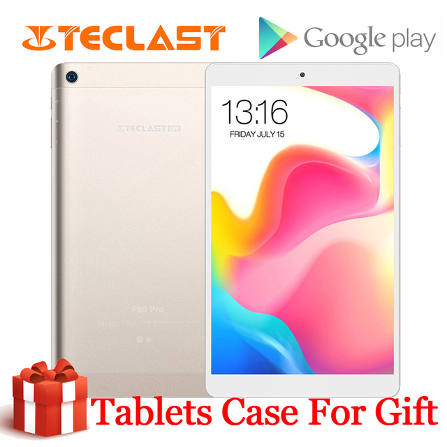 Teclast P80 Pro แท็บเล็ต Android หน้าจอสัมผัส 8 นิ้ว 1280*800 3GB RAM 16GB ROM Dual WiFi Android 7.0 MTK8163 Quad Core แท็บเล็ต GPS