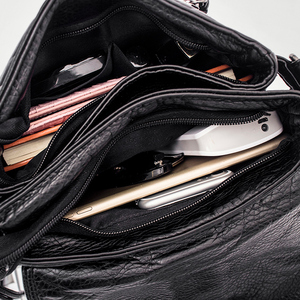 Image 5 - Weiche leder Frauen umhängetasche lässig frauen schulter crossbody tasche weibliche handtasche Schwarz bolsa feminina mädchen tasche