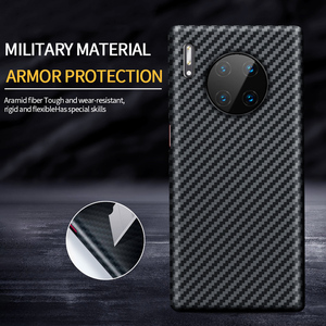 Image 5 - Grma Echte Pure Carbon Fiber Telefoon Back Cover Voor Huawei P40 P30 Mate 30 Pro Case Ultra Dunne Anti Vallen shockproof Telefoon Cover
