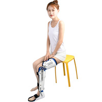 1pcs Leg Gear Adjustable Fixed Rigid Knee Ankle Joint Thigh Calf Foot Brace Protector For Sport Injured People Left or Right Leg