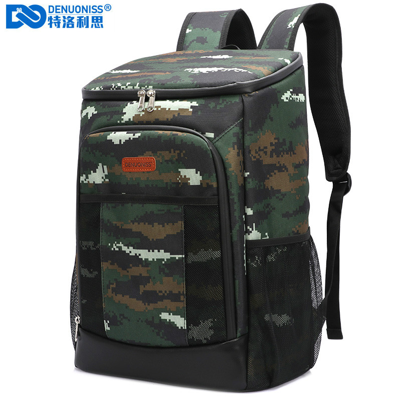 DENUONISS Jungle Camping Big Cooler Bag Soft 100% Leakproof Waterproof Thermal Picnic Bag Isothermal Backpack Army Fresh Bag