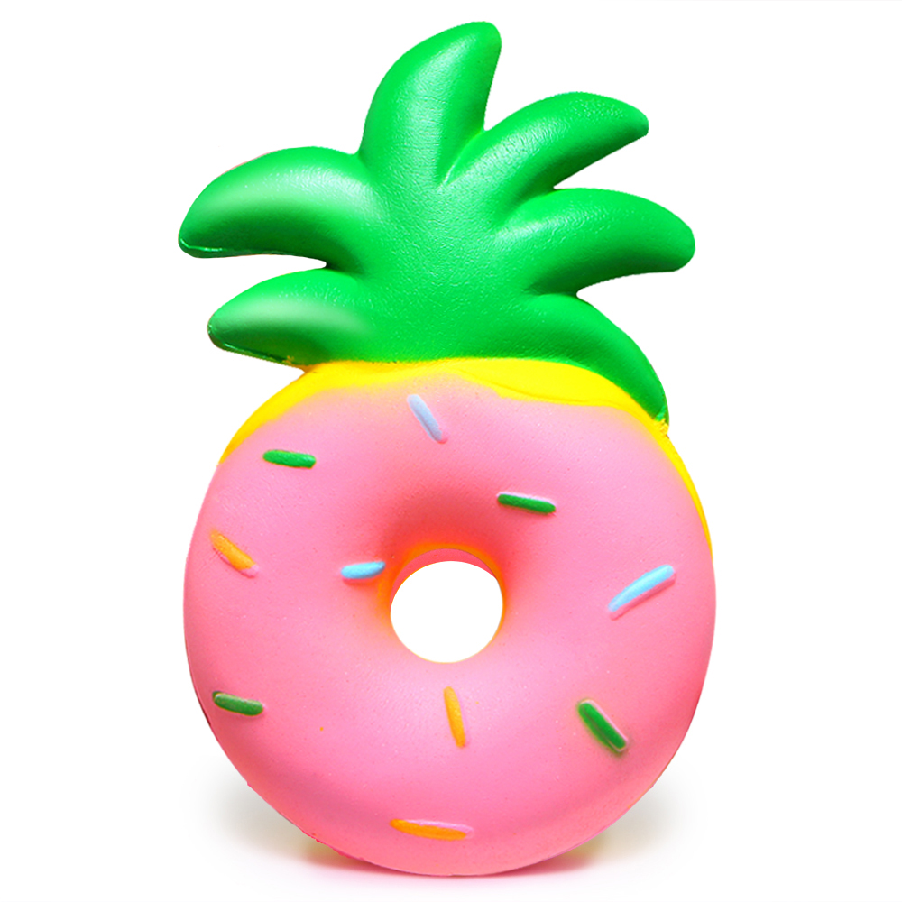 Jumbo Pineapple Donut Squishy Fruit Squishies Cream Scented Slow Rising Squeeze Toy Baby Kids Party Birthday Fun Gift